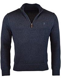 Men's Half-Zip Cotton Sweater