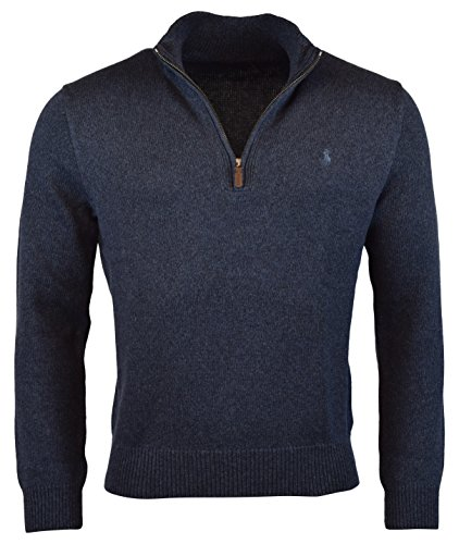 (Polo Ralph Lauren Mens Half-Zip Mockneck Sweater, XXL, Navy)