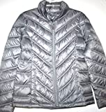 Kenneth Cole Reaction Women's Down Puffer Jacket Coat (S, Gray)