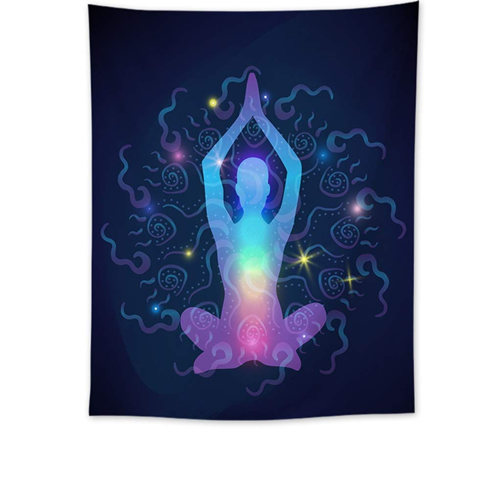Mandala Tapestry Yoga Tapestry Home Decor Wall Hanging Living Room Bedroom Dormitory Tapestry (Color : B, Size : 150CM×200CM) by HappyL