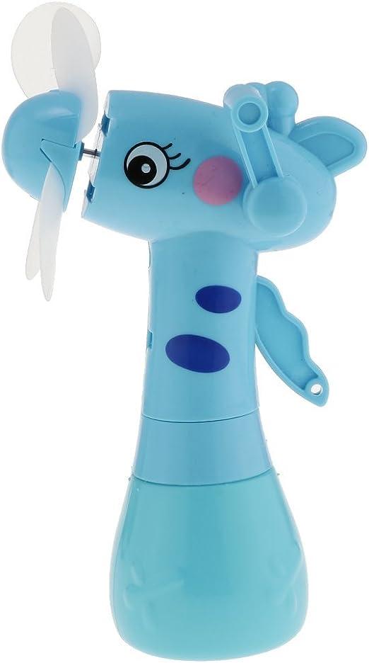 Juguete Manivela de Mano Mini Ventilador Segura Portátil Y Sin Batería para Niños Regalo - Azul: Amazon.es: Hogar