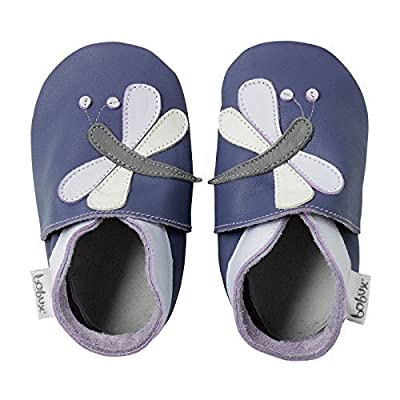 Bobux Leather Baby Shoes - Purple Dragonfly - Small 3-9 Months : Baby