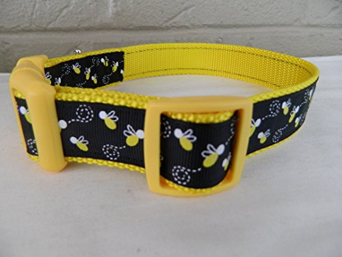 ellow Lightning Bugs Dog Collar (Small 5/8