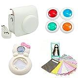 MINILUJIA for Instax Mini 8 Instant Film Camera Accessories Bundles Set-Color (white)