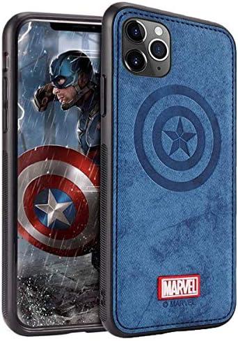 TinPlanet Marvel Avengers Coque iPhone 11, Case pour Apple iPhone 11 6,1 Pouces, Captain America, Blue