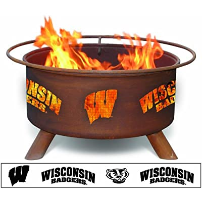 Image of Fire Pits Patina Products F217, 30 Inch University of Wisconsin Fire Pit