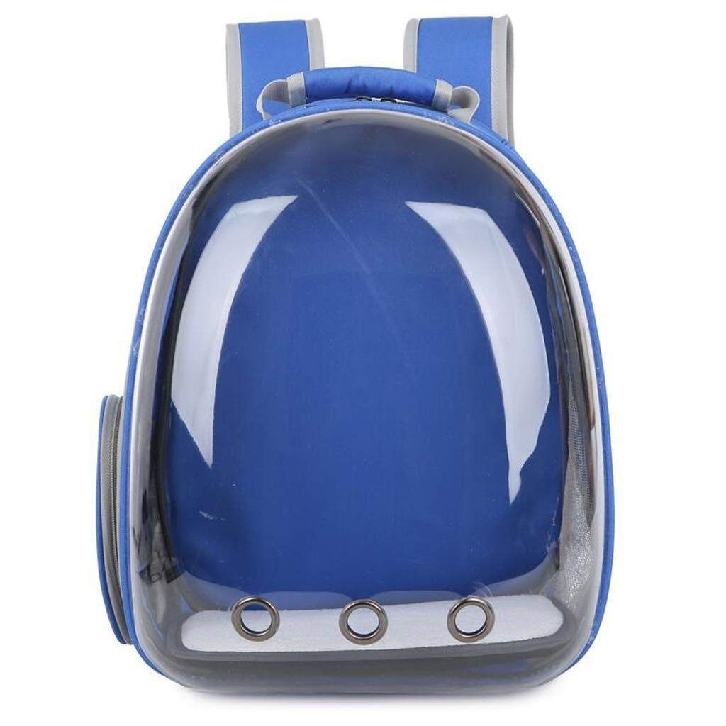bluee TTZ Pet Backpack Portable Shoulder Out Breathable Adjustable Space Capsule Backpack, Suitable For Hiking Camping, Cats And Dogs Available