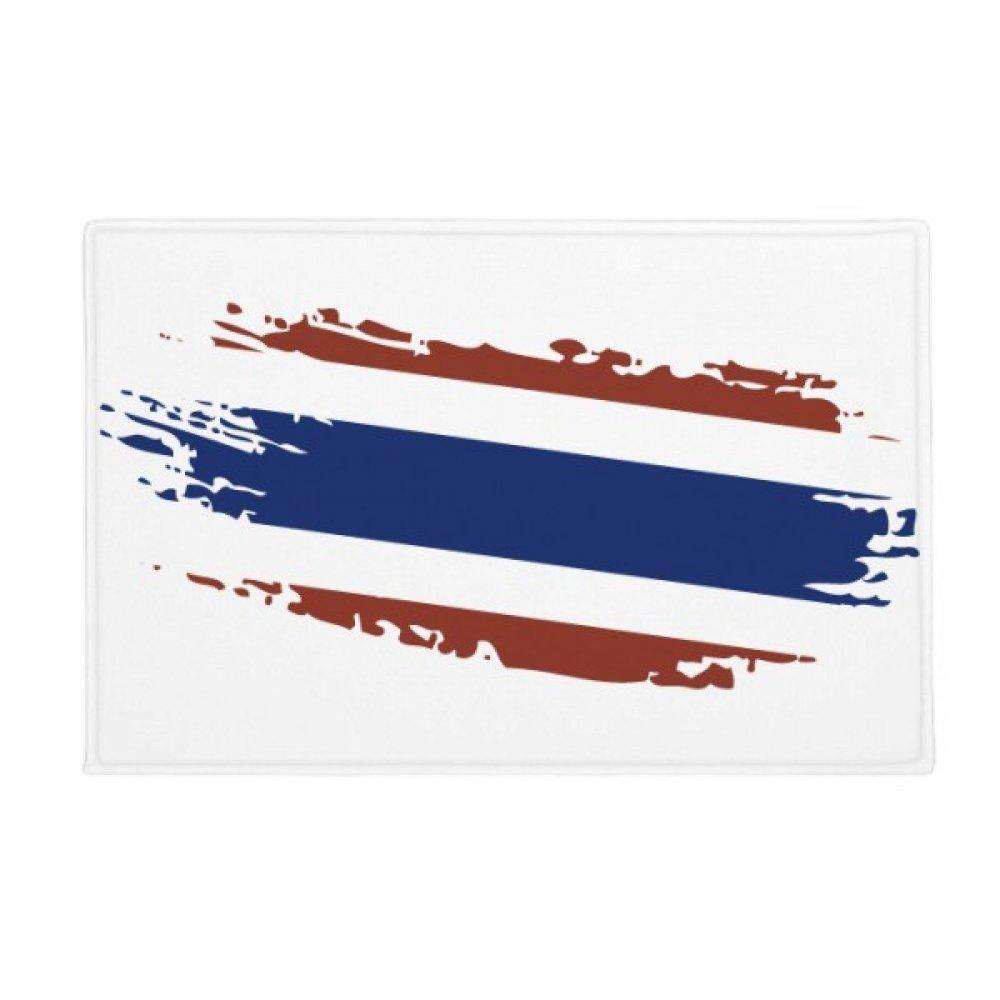 Thai Bangkok Thailand Flag Art Illustration Anti-slip Floor Mat Carpet Bathroom Living Room Kitchen Door 16''x30''Gift