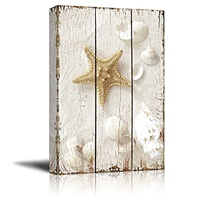 Magnificent Expertise, Classic Design, Star Fish and Sea Shells on The Sand Wall Decor