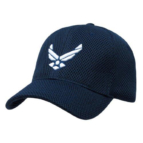 Rapid Dom Air Mesh US Military Branch Logo Baseball Caps S002 Air Force Blue