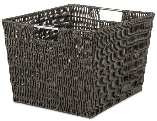 Whitmor Rattique Storage Tote Basket - (Metal Rattan Baskets)
