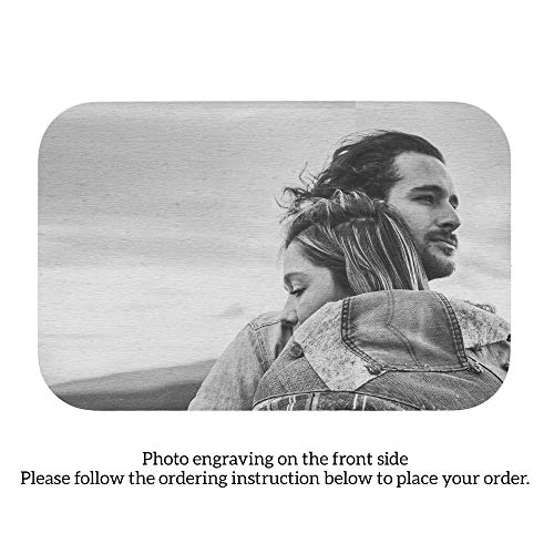 sonalized Photo & TEXT Engraved Metal Wallet Mini Insert Card handmade Stainless Steel To My Husband/Wife ()