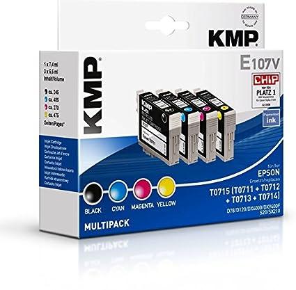 KMP E107V cartucho de tinta Negro, Cian, Magenta, Amarillo 7,4 ml ...