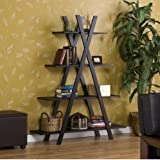 Trendy Book Shelf Great as Living Room or Office Furniture. Book shelves are perfect for Books or Media. SALE! This wood Bookcase Will Store Your Books or Display Decorative Items and Heirlooms. Perfect for Bookshelf Speakers as well.