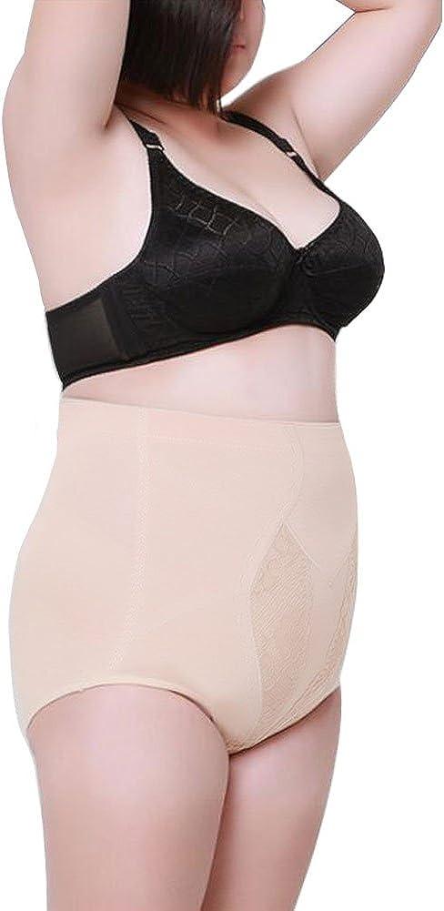 Yuccer Shapewear for Women Hi-Waist Shapewear Tummy Control Body Shaper for Ladies Plus Size Cotton Slim Control Panties