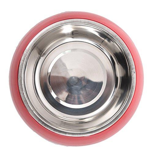 SRY-Pet Costume Tazones de fuente de comida seca del animal doméstico del acero inoxidable para las fuentes de alimentación...