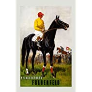 """Black Horse Steeplechasing Eventing Competition Equestrian 16"""" X 22"""" Image Size Vintage Poster Reproduction we have other sizes available"""