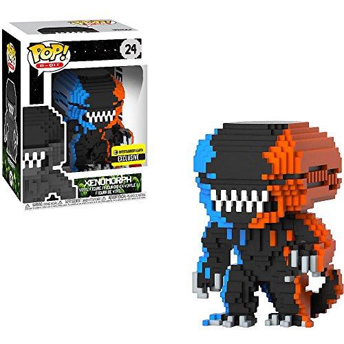Funko Xenomorph (EE Exclusive): Alien x POP! 8-bit Horror Vinyl Figure + 1 Classic Horror & Sci-fi Movies Trading Card Bundle [#024 / -