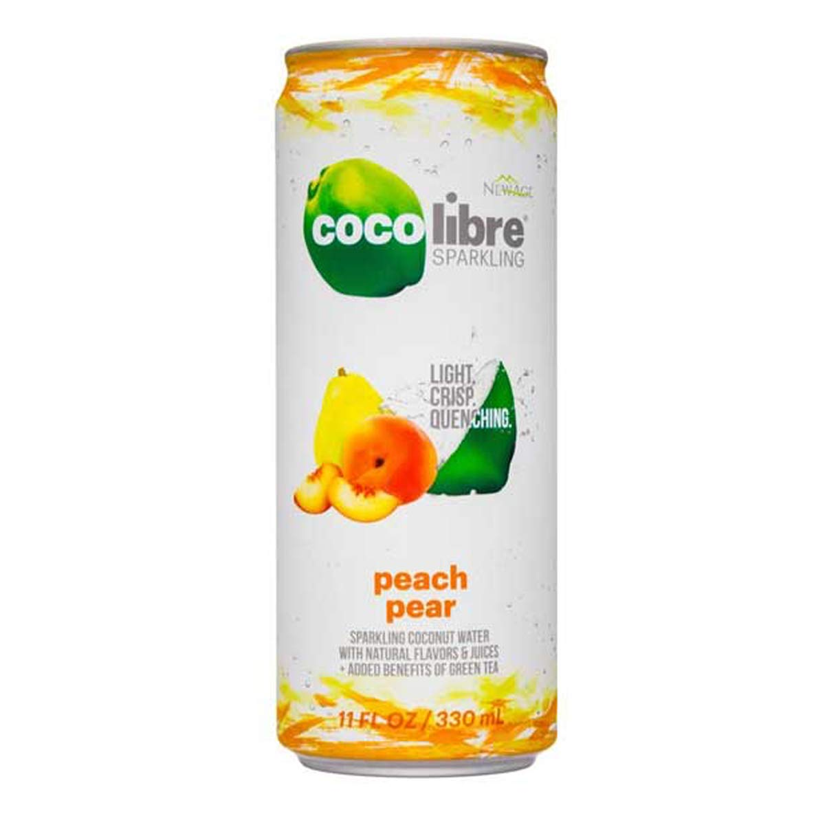 Coco Libre Sparkling Coconut Water - Peach Pear (Pack of 12)