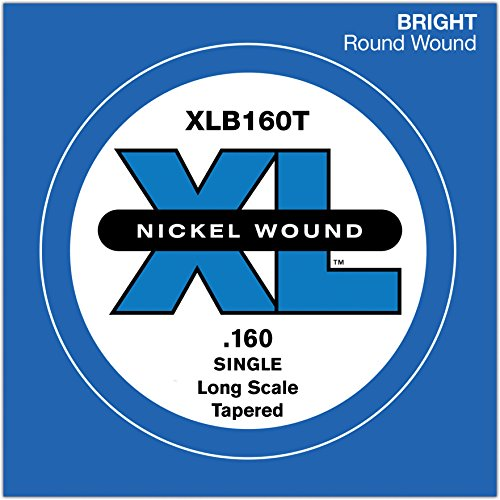 D'Addario XLB160T Nickel Wound Bass Guitar Single String, Long Scale.160, Tapered ()