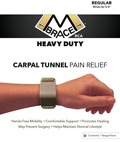 M BRACE RCA - HEAVY DUTY - Carpal Tunnel Treatment Wrist Support (Regular, - Rca Bend