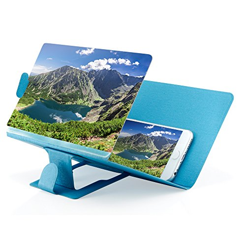 Oct17 Phone Screen Magnifier , Cellphone Projector Enlarged Amplifier, Mobile Bracket Holder, 3D HD Movie Video Stand for All Smartphone, iPhone 4, 5, 6, 7, Plus, Samsung Galaxy Note 6, 5, 4, 3, Edge