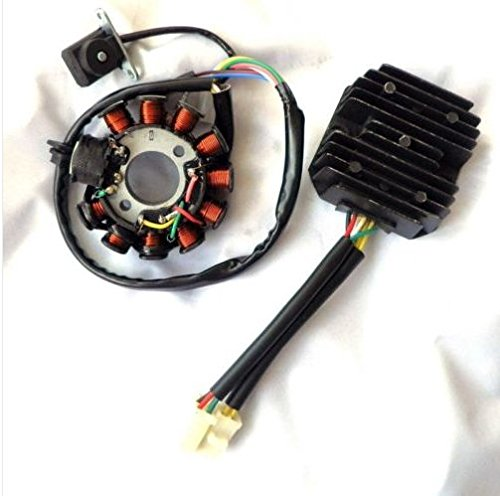 Amazon.com: YunShuo Performance 11 Pole Magneto Stator w/ 6 Wire 2 Plug Regulator GY6 125 150 Scooter: Automotive