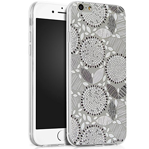 Price comparison product image iPhone 5S Case, iPhone SE Case, iPhone 5 Case, ikasus Ultra Thin Soft TPU Floral Sunflower Soft Silicone Rubber Bumper Case, Crystal Clear Soft Floral Silicone Case for iPhone 5S 5 SE, Gray