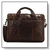 2012 New Vintage Leather Men's Briefcase Handbag Laptop Messenger Bag,M5
