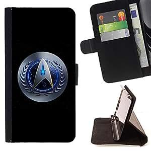 BullDog Case - FOR/Samsung Galaxy Note 4 IV / - / star galaxy space series /- Monedero de cuero de la PU Llevar cubierta de la caja con el ID Credit Card Slots Flip funda de cuer