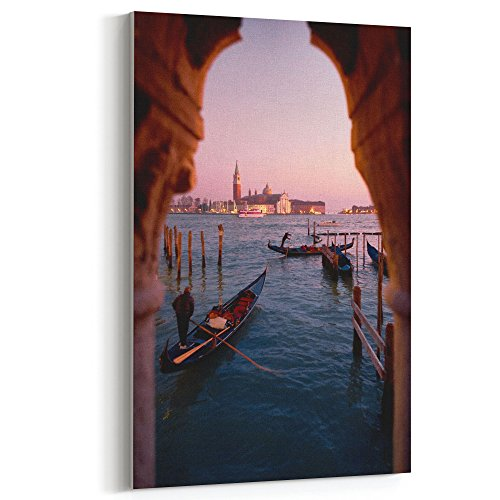 Westlake Art - City Sea - 12x18 Canvas Print Wall Art - Canvas Stretched Gallery Wrap Modern Picture Photography Artwork - Ready to Hang 12x18 Inch (Florence Photo Gallery)