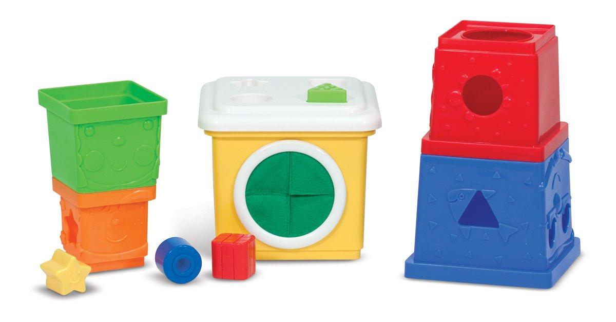 Melissa /& Doug Ks Kids Stacking Blocks Set With Sorting Shapes