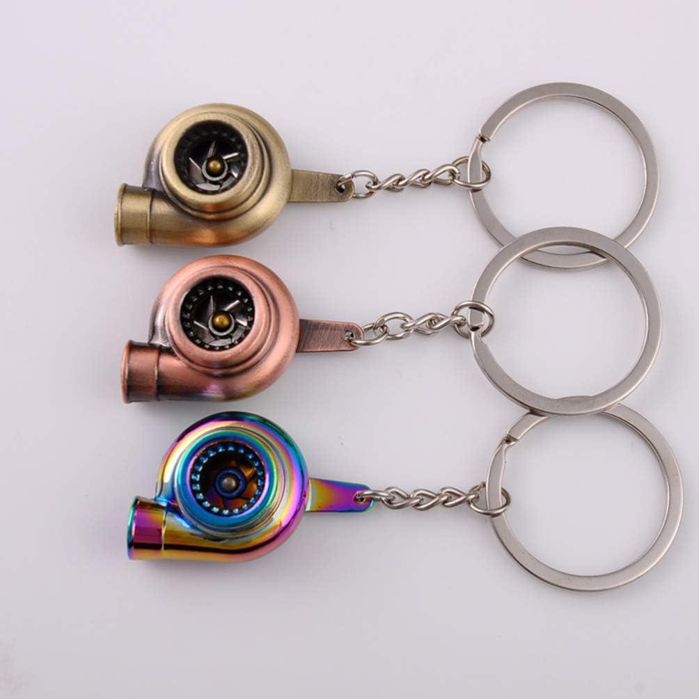 TOYANDONA Turbo Keychain Auto Parts Model Keyring Creative Turbocharger Metal Keyfob Holder Bag Pendant Jewelry for Driver Gift