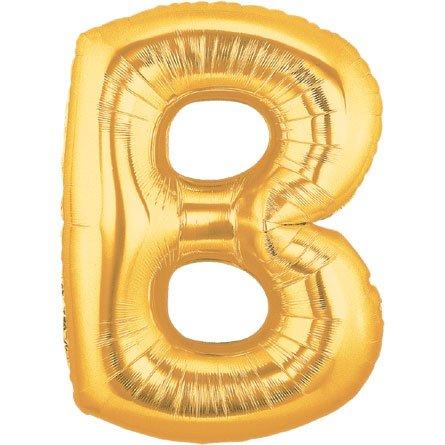 [해외]버튼 & amp; /Burton & Burton 40  Alphabet Shape Balloons, Gold