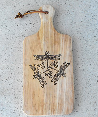 (Dragonfly Cutting Board With Handle 13