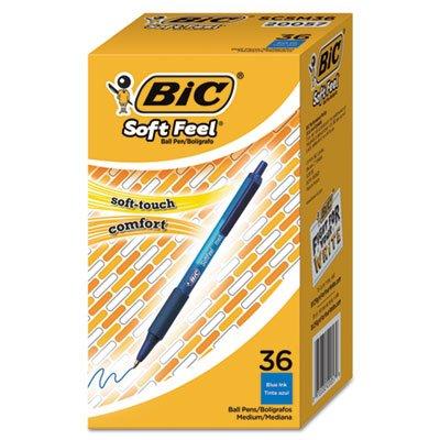 Soft Feel Retractable Ballpoint Pen, Blue, 1mm, Medium, ()