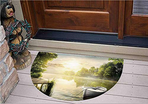 Stickers Personalized Floor Wall Sticker Decals,Deck Dreamy Forest in The Morning Country Style,Kitchen Bathroom Tile Sticker Living Room Bedroom Kids Room Decor Art Mural D43.3