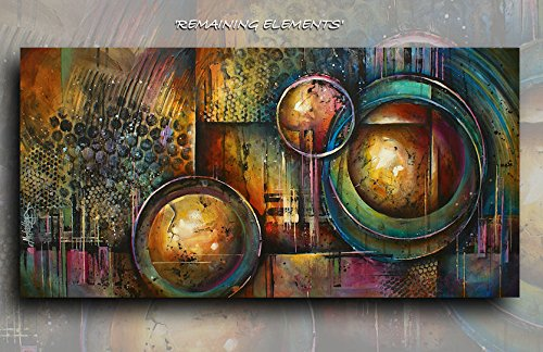 Art Modern Geometric Abstract Giclee Canvas Print of an Original Painting By Michael Lang 24