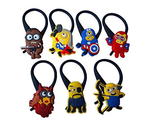 AVIRGO 7 pcs Soft Zipper Pull Charms for Jacket Backpack Bag Pendant Set # 124 - (Despicable Me Margo Costumes)