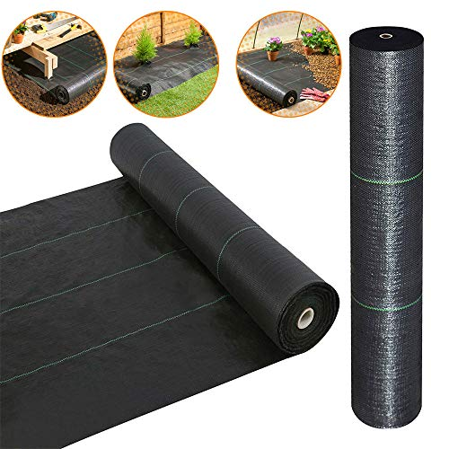 · Petgrow · Heavy Duty Weed Barrier Landscape Fabric for Outdoor Gardens, Non Woven Weed Blockr Fabric - Garden Landscaping Fabric Roll - Weed Control Fabric in Rolls(4FTx100FT) (Materials Gardening)
