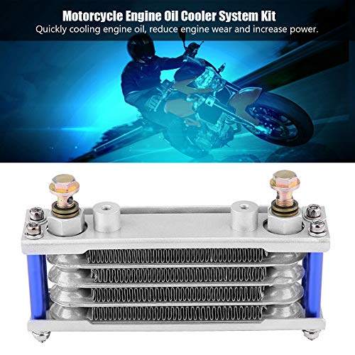 Amazon.com: KIMISS Motorcycle Engine Oil Cooler Oil Cooling Radiator Kit for Honda CB CG 100CC-250CC(65ML-Silver): Automotive