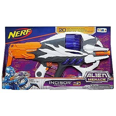 NERF Alien Menace Incisor Blaster: Toys & Games