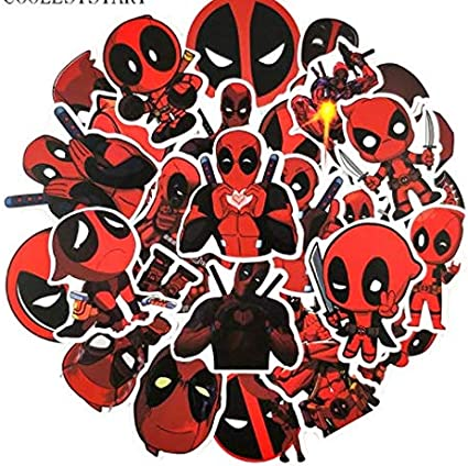DZCYAN 35Pcs/Pack Deadpool Graffiti Stickers For Laptop Mouse Motorcycle Skateboard Luggage Guitar Cute Style Stickers: Amazon.es: Coche y moto