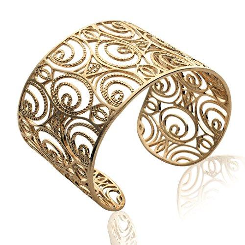Bracelet plaqué Or Femme - Diam:62mm / Larg:62mm - Plaqué or (Jonc / Large / Manchette / Rigide / Rond)