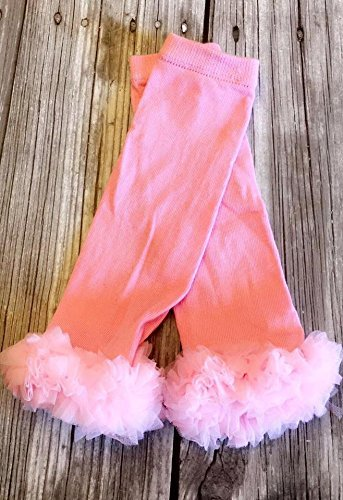 light pink solid ruffle baby leg warmers