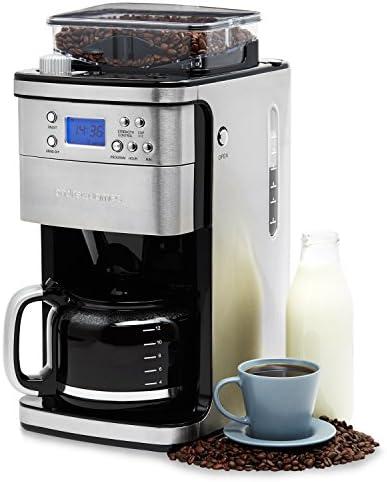 Andrew James - Cafetera eléctrica con molinillo integrado, modelo ...