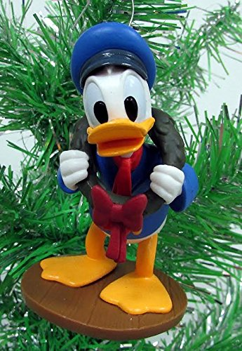 Disney Mickeys Christmas Carol Donald as Fred PVC Figure Holiday Tree Ornament Figurine Doll - Donald Disney Pendants