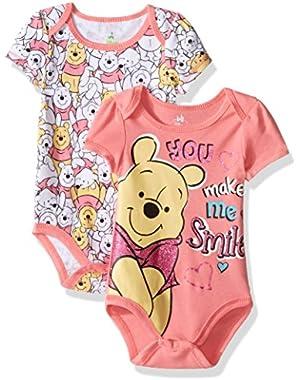 Baby Girls' Winnie the Pooh 2 Pack Bodysuit