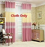 WPKIRA New Living Room Perspective White Tulle Lace Voile Floral Sheer Curtain and Pink Beige 2 Colors Linen Curtain Cloth Stitching Window Curtain Drapes For Glass Sliding Door 1 Panel W52 x L96 inch For Sale