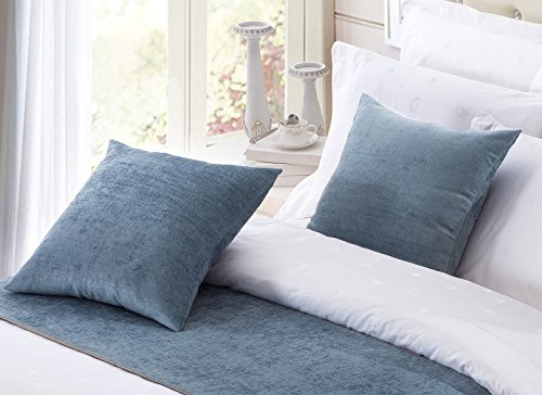 Chenille Square Throw - OSVINO 2 Pack European Style Solid Color Square 20